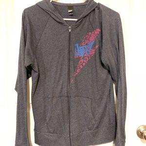 Obey zip up sweater size L
